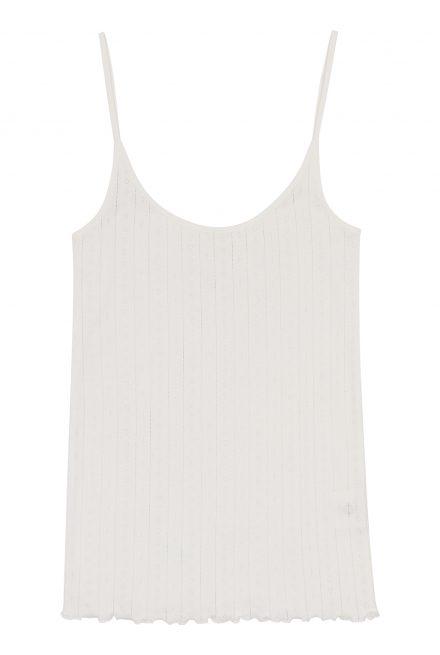 Skall Studio Edie Cami top med stropper i hvid